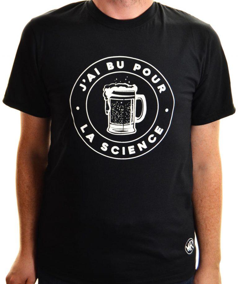 T-shirt J'ai bu pour la science