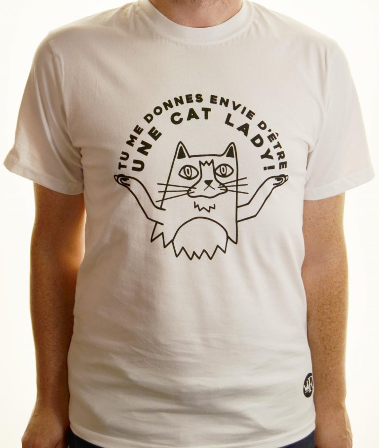 T-shirt Cat lady