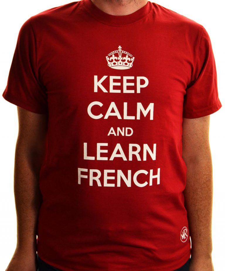T-shirt Keep calm and learn french