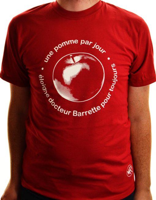 T-shirt Une pomme par jour